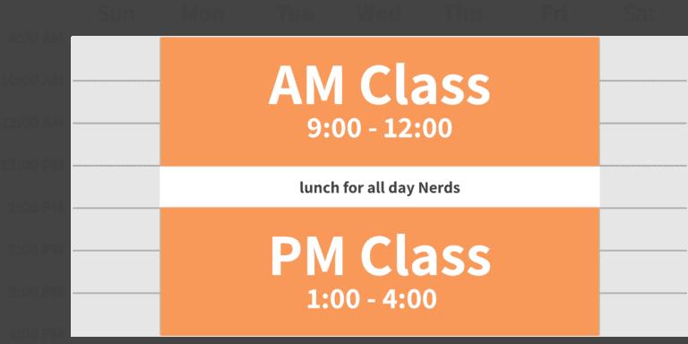 Nerding Summer Class Schedule 2019