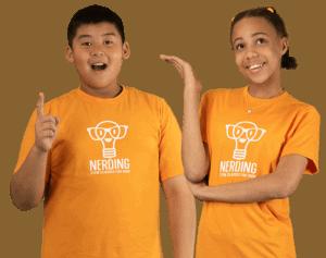 Nerding Summer STEM Classes For Kids - Kids Holding Up Idea Finger