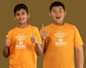 Nerding Summer STEM Classes For Kids - Kids Holding Up Thumbs