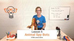 stem lesson about animal spy robots
